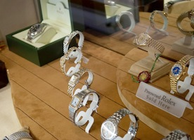 mens watches on display